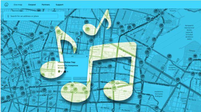 Как играть музыку, подкасты в приложении Waze