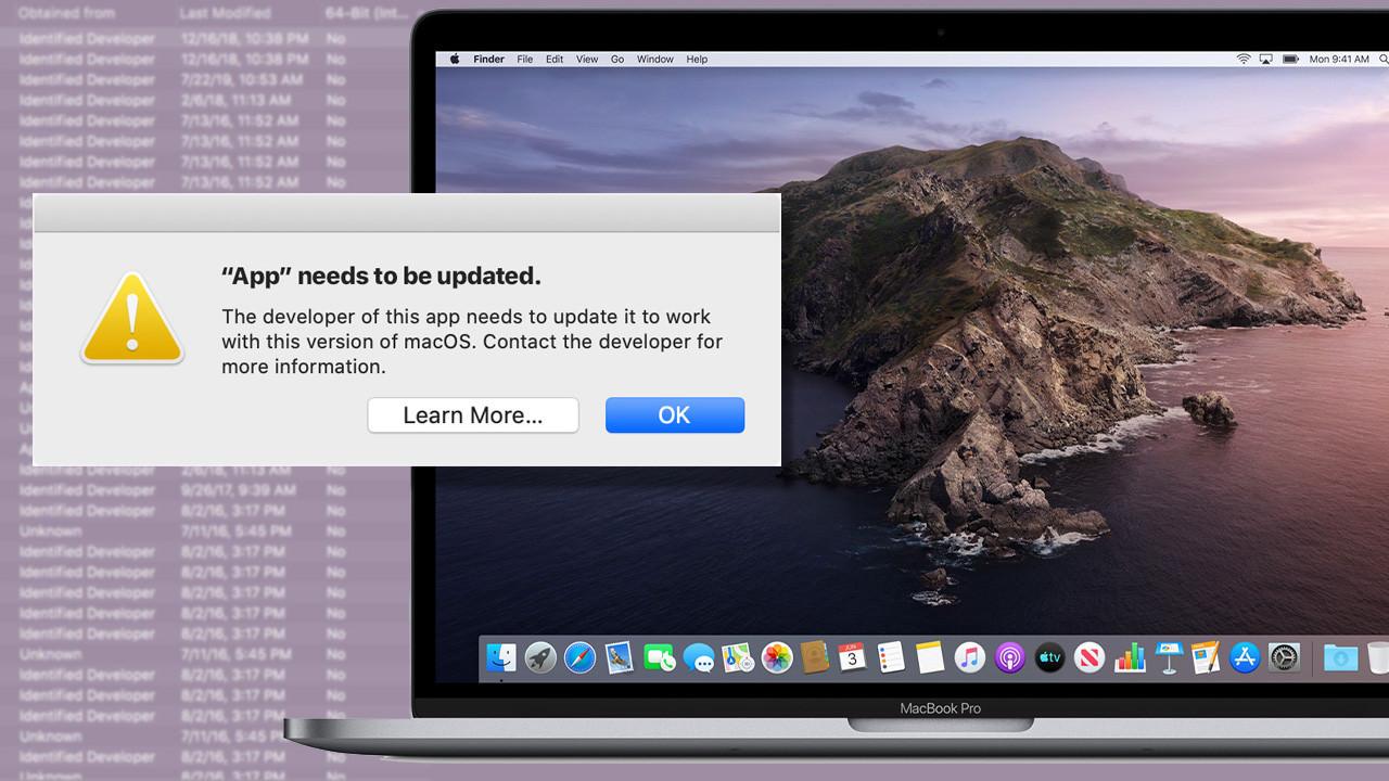 Как запустить 32-битные приложения в macOS Каталина